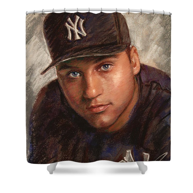 Derek Jeter Shower Curtains