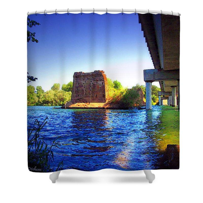 Watercolor Shower Curtain featuring the photograph Deschutes Bridge Anderson Ca Watercolor  by Joyce Dickens
