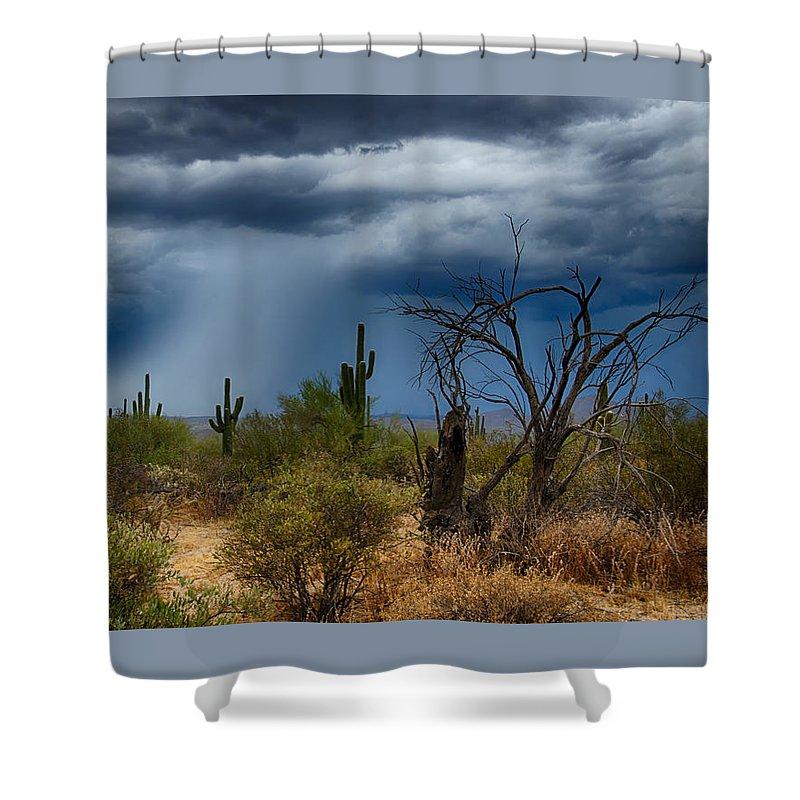 Arizona Shower Curtain featuring the photograph Desert Rains by Saija Lehtonen