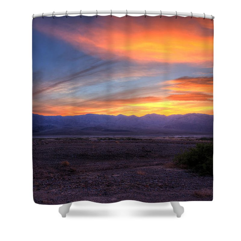Sunset Shower Curtain featuring the photograph Desert Sunset by Heidi Smith
