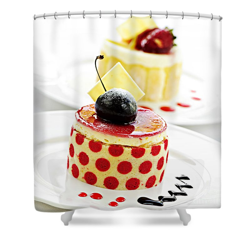 Desserts Shower Curtain featuring the photograph Desserts by Elena Elisseeva