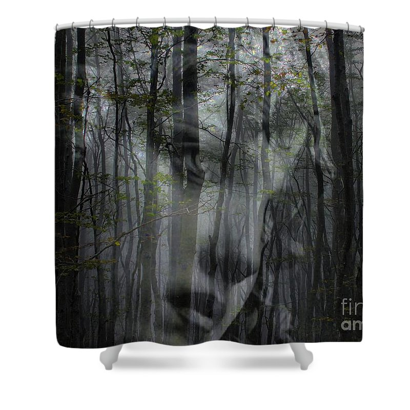 Destination Uncertain Shower Curtain featuring the digital art Destination Uncertain by Elizabeth McTaggart
