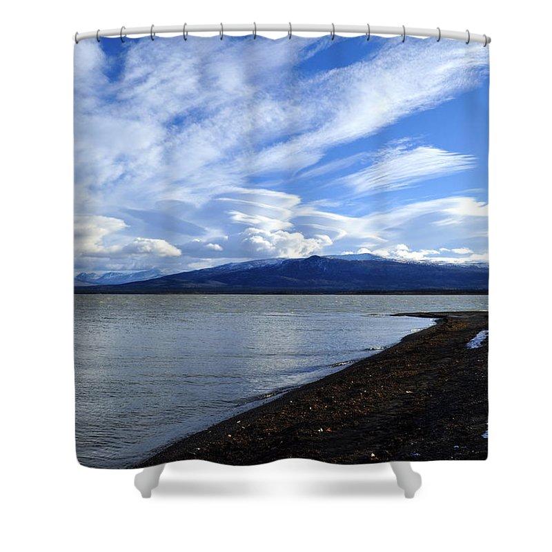 Dezadeash Shower Curtain featuring the photograph Dezadeash Lake by Cathy Mahnke
