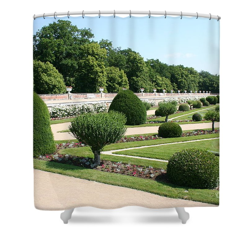 Garden Shower Curtain featuring the photograph Diane De Poitiers' Gardens by Christiane Schulze Art And Photography