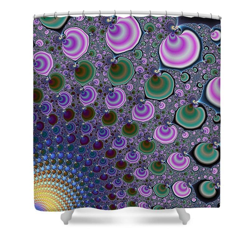 Fractal Shower Curtain featuring the digital art Digital Fractal Artwork Beautiful Colors by Matthias Hauser