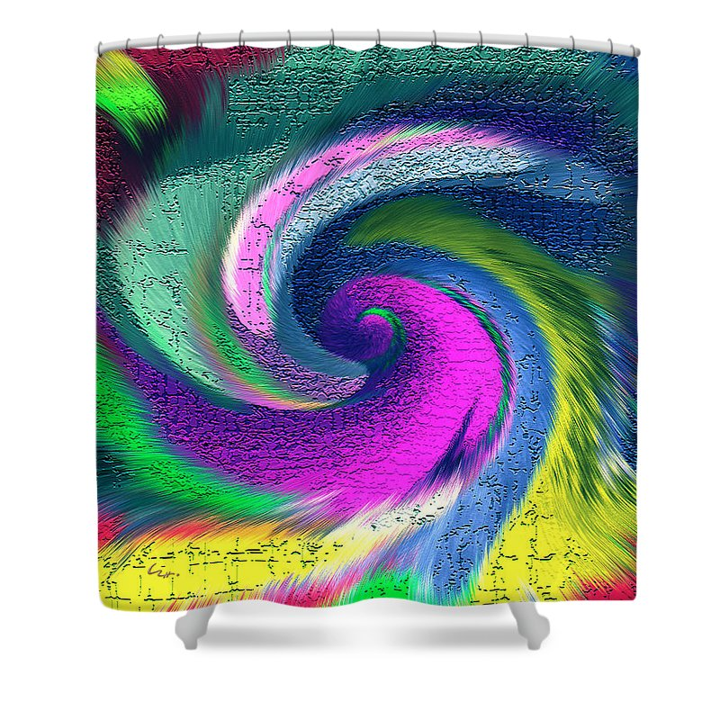 Dimensional Doorway Shower Curtain featuring the mixed media Dimensional Doorway by Carl Hunter