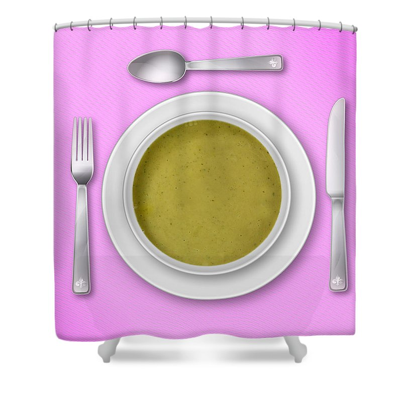 Pink Shower Curtain featuring the photograph Dinner Setting 03 by Jo Roderick