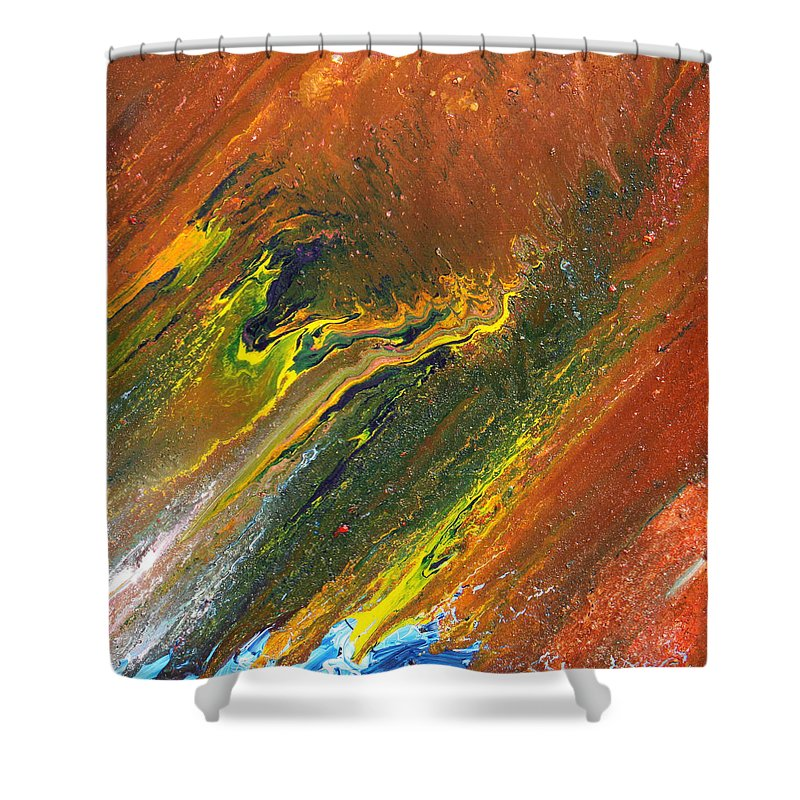 Fusionart Shower Curtain featuring the painting Distance by Ralph White