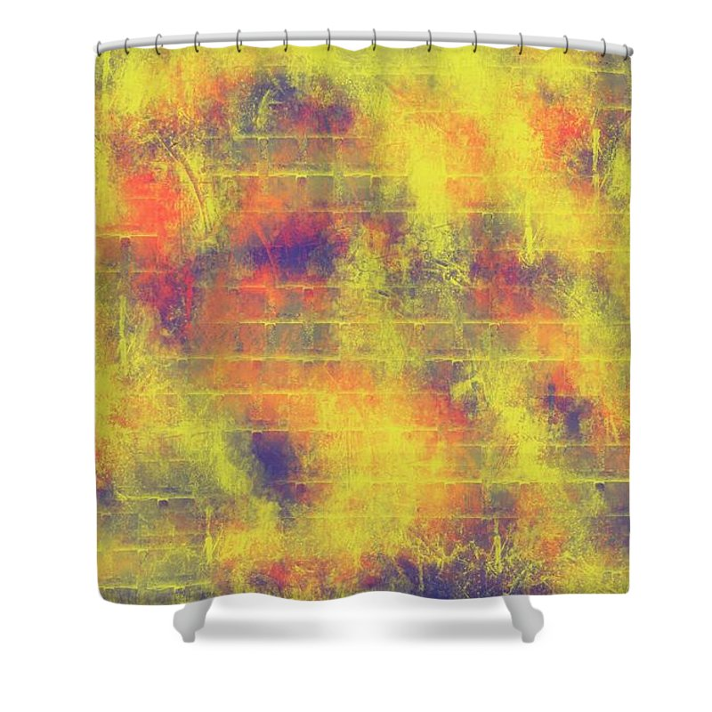 Wall Distressed Shower Curtain featuring the digital art Distressed by Bill Minkowitz