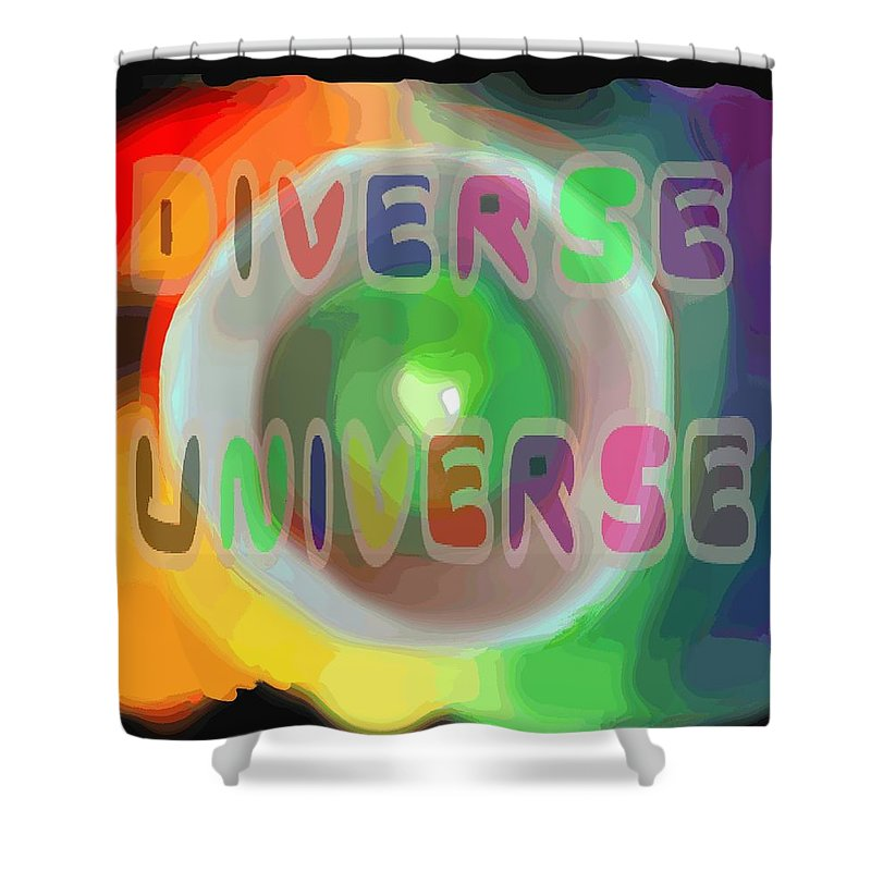 Diverse Shower Curtain featuring the painting Diverse Universe by Pharris Art