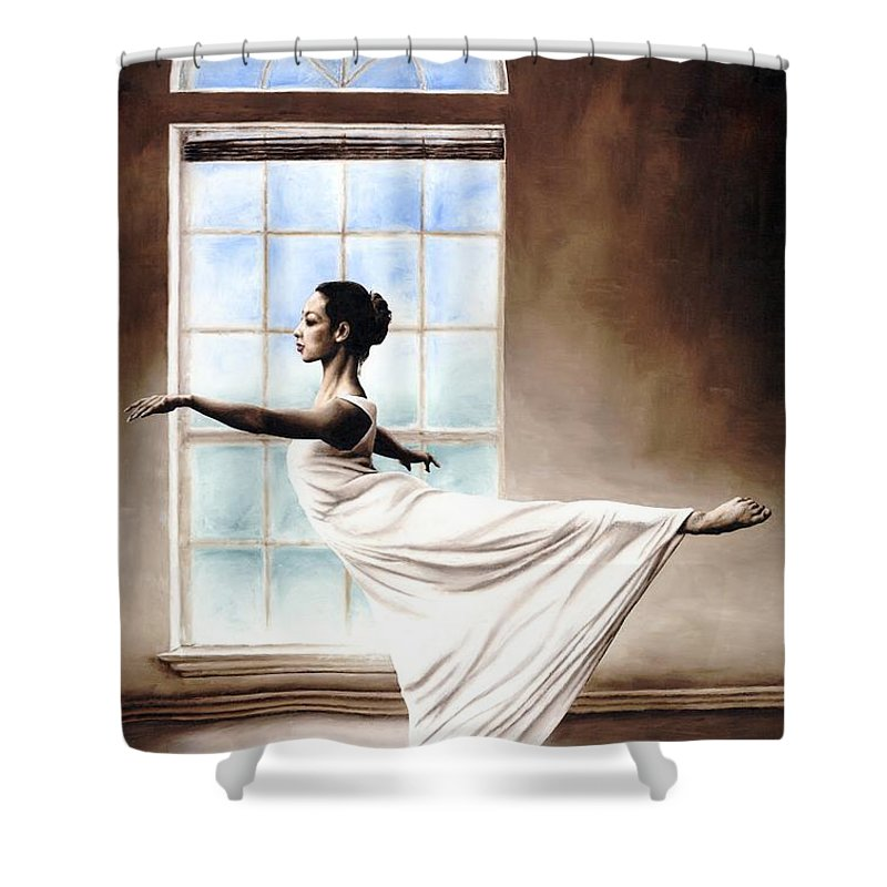 Dance Shower Curtain featuring the painting Divine Grace by Richard Young