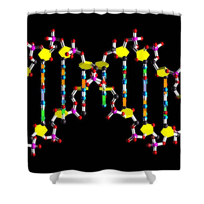 Acid Shower Curtain featuring the digital art Dna 40 by Russell Kightley