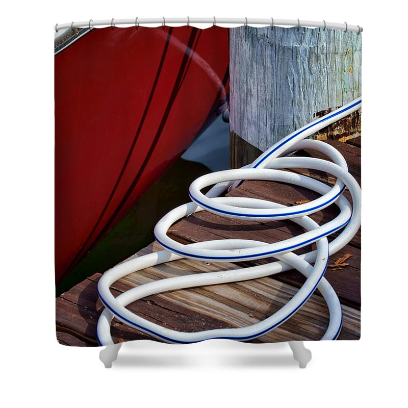 Dock Shower Curtain featuring the photograph Dock Details by Nikolyn McDonald
