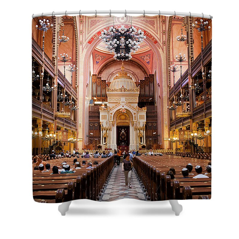 Budapest Shower Curtain featuring the photograph Dohany Street Synagogue In Budapest by Artur Bogacki