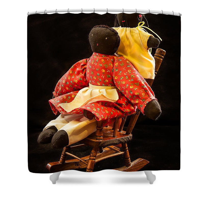 Dolls Shower Curtain featuring the photograph Dolls by Jean Noren