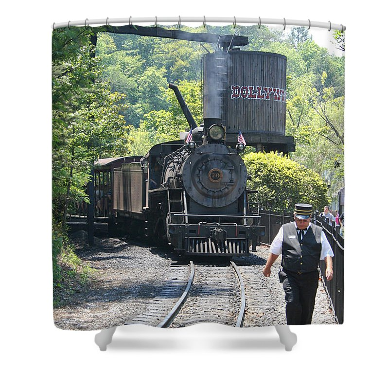 Train Shower Curtain featuring the photograph Dollywood 2-8-2 Number 70 by John Black