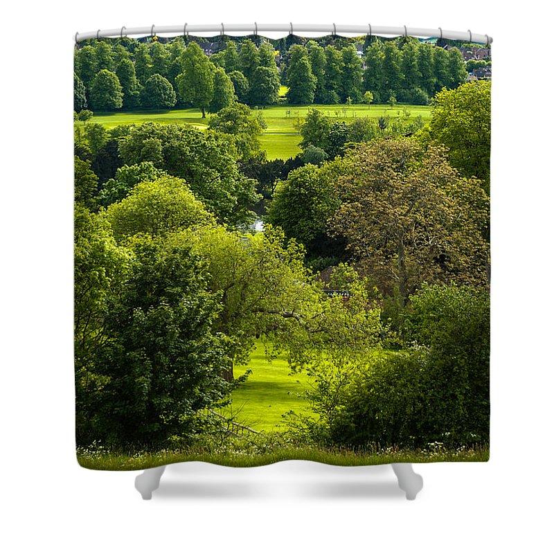 Berkshire Shower Curtain featuring the photograph Donnington Grove Newbury by Mark Llewellyn