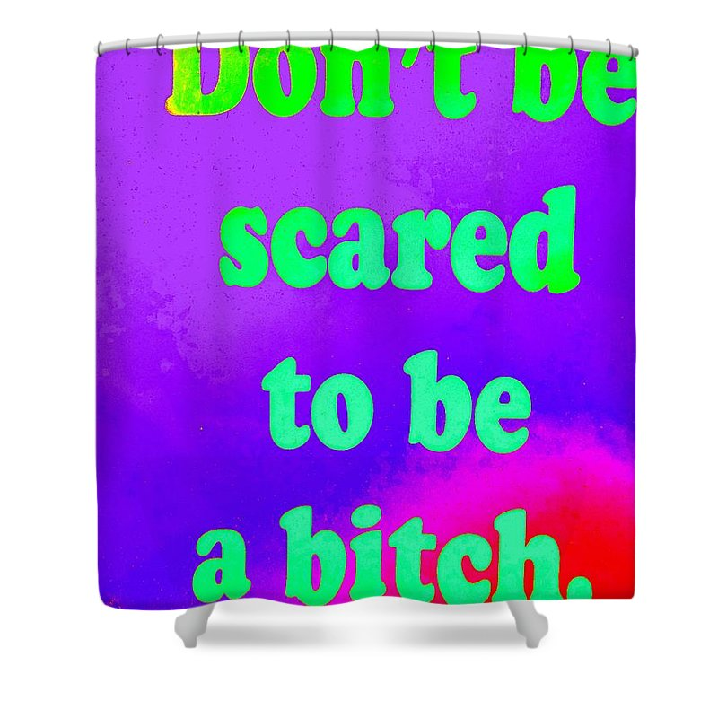 Pop Art Shower Curtain featuring the photograph Don't Be Scared by Ed Weidman