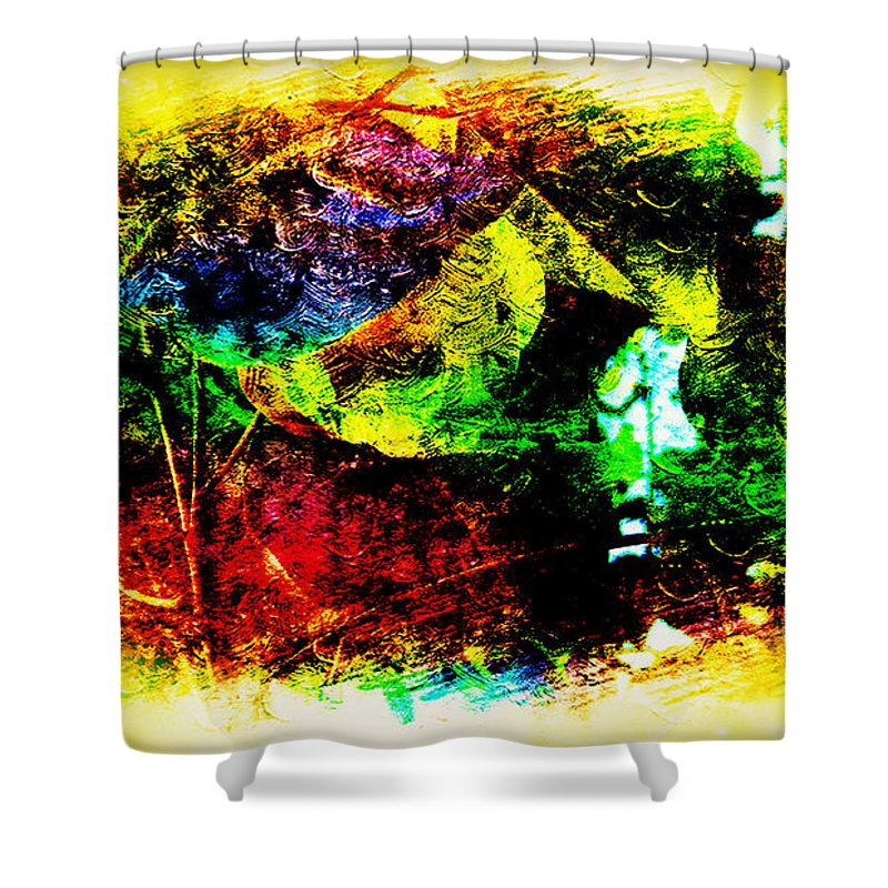 Shy Shower Curtain featuring the painting Don't Be Shy by Xueyin Chen