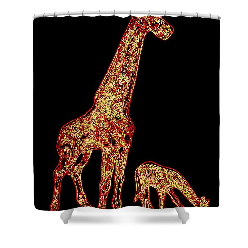 Don't Eat My Initials Shower Curtain featuring the digital art Don't Eat My Initials by Will Borden