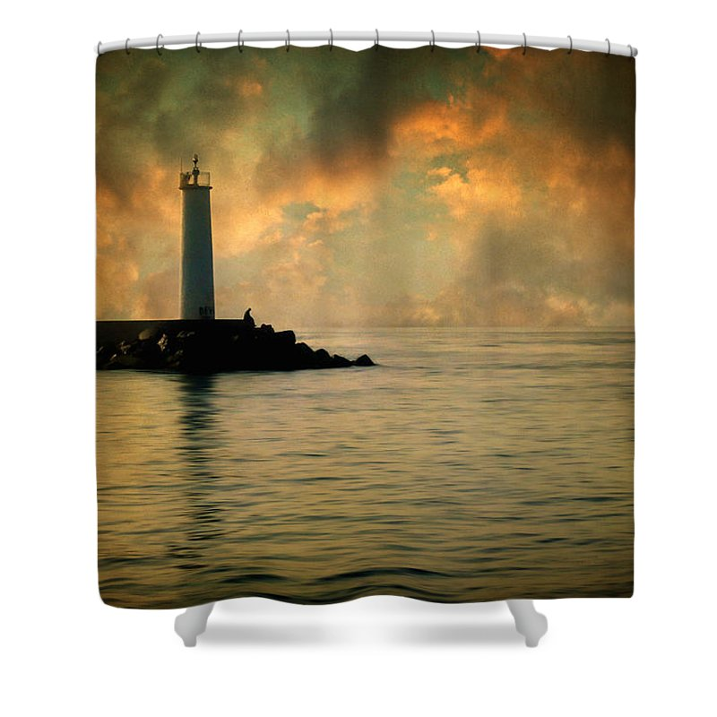Lighthouse Shower Curtain featuring the photograph Don't Leave Me Now by Zapista