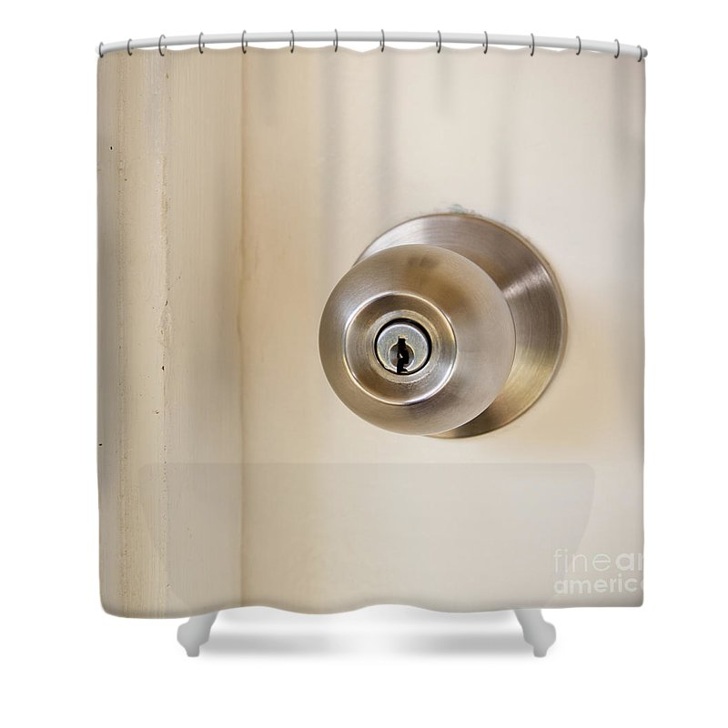Background Shower Curtain featuring the photograph Door Handle by Tim Hester