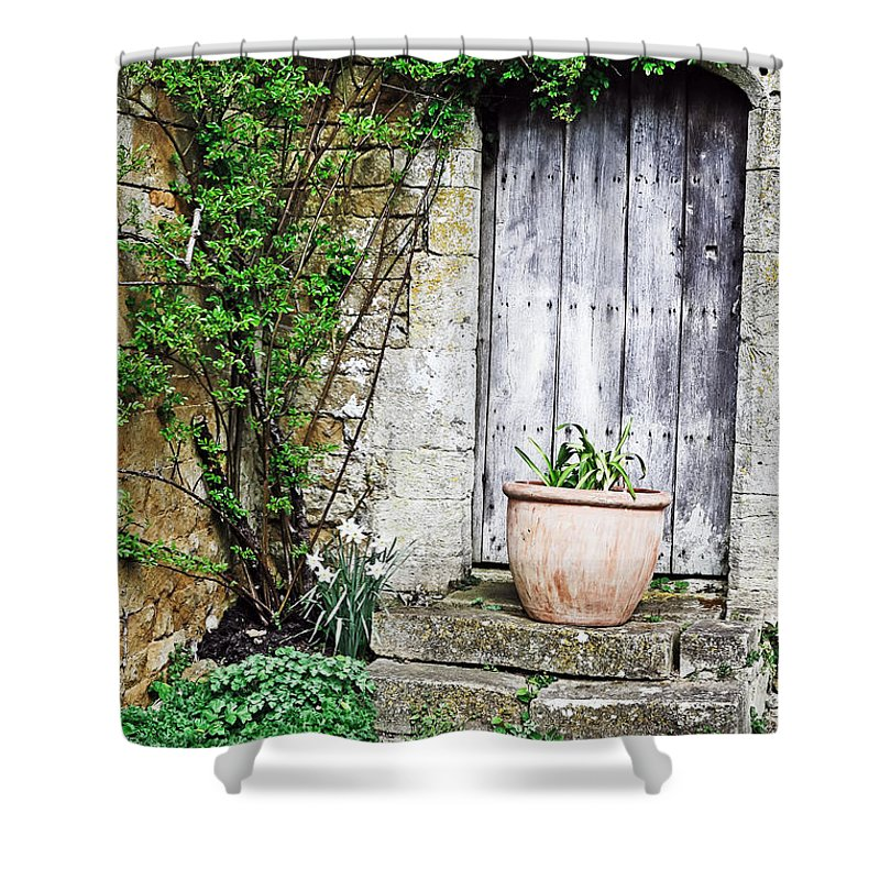 Travel Shower Curtain featuring the photograph Door To The Cotswolds by Elvis Vaughn