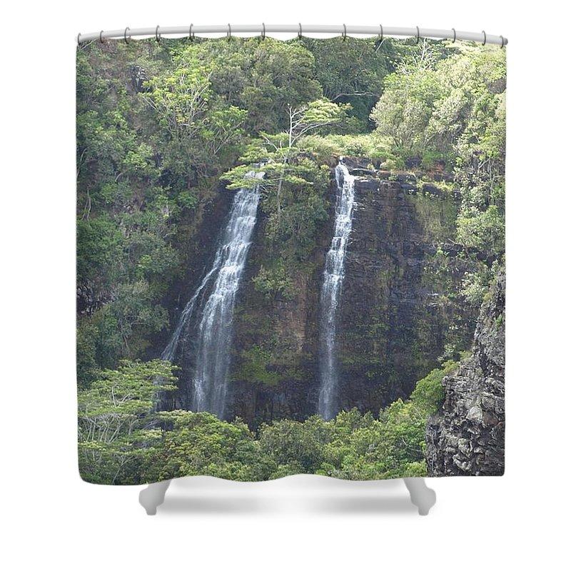 Waterfall Shower Curtain featuring the photograph Double Waterfall by Jo Jurkiewicz