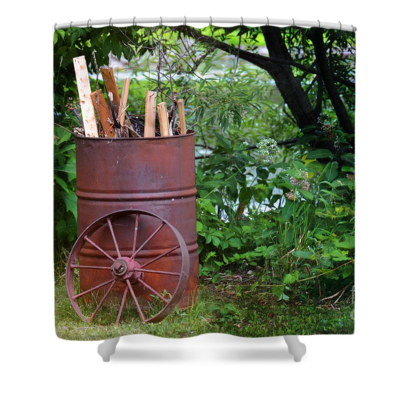 Wood Shower Curtain featuring the photograph Down By The River by Elaine Berger