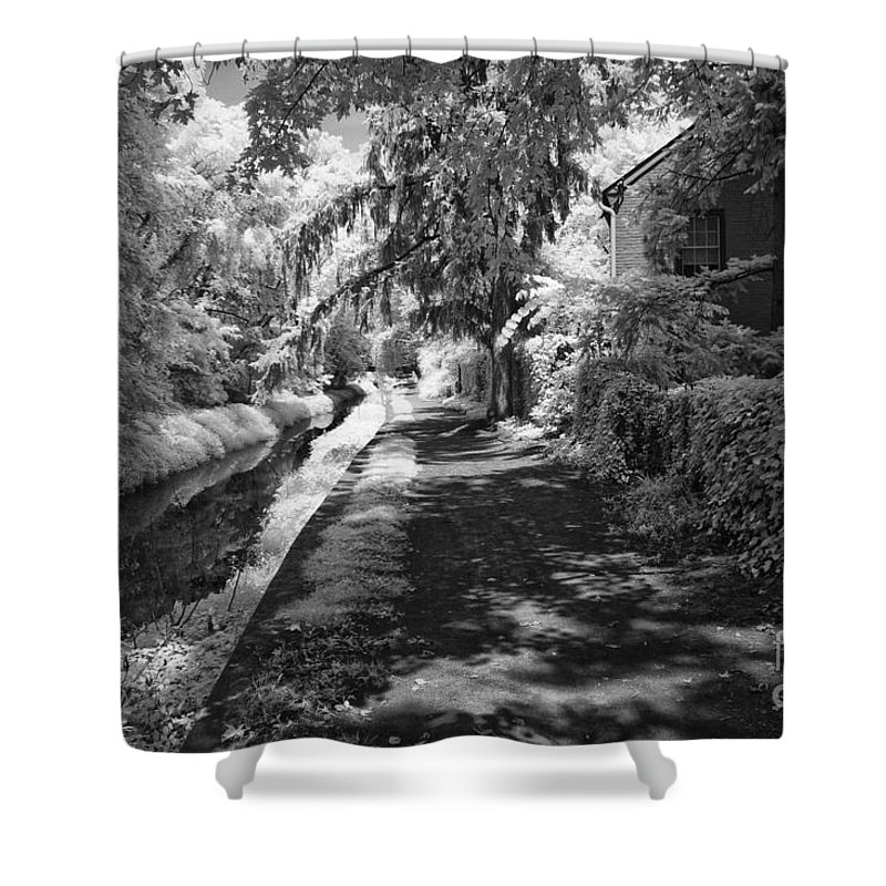 Infrared Shower Curtain featuring the photograph Down The Canal Tow Path by Paul W Faust - Impressions of Light