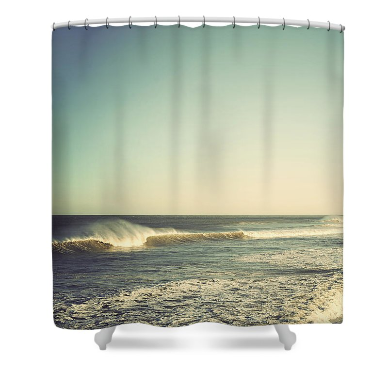 Terry Deluco Shower Curtain Featuring The Photograph Down Shore