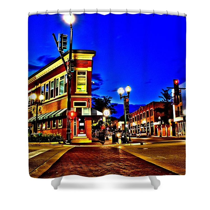 Shower Curtain featuring the photograph Downtown Elgin Il by Abby D Santiago