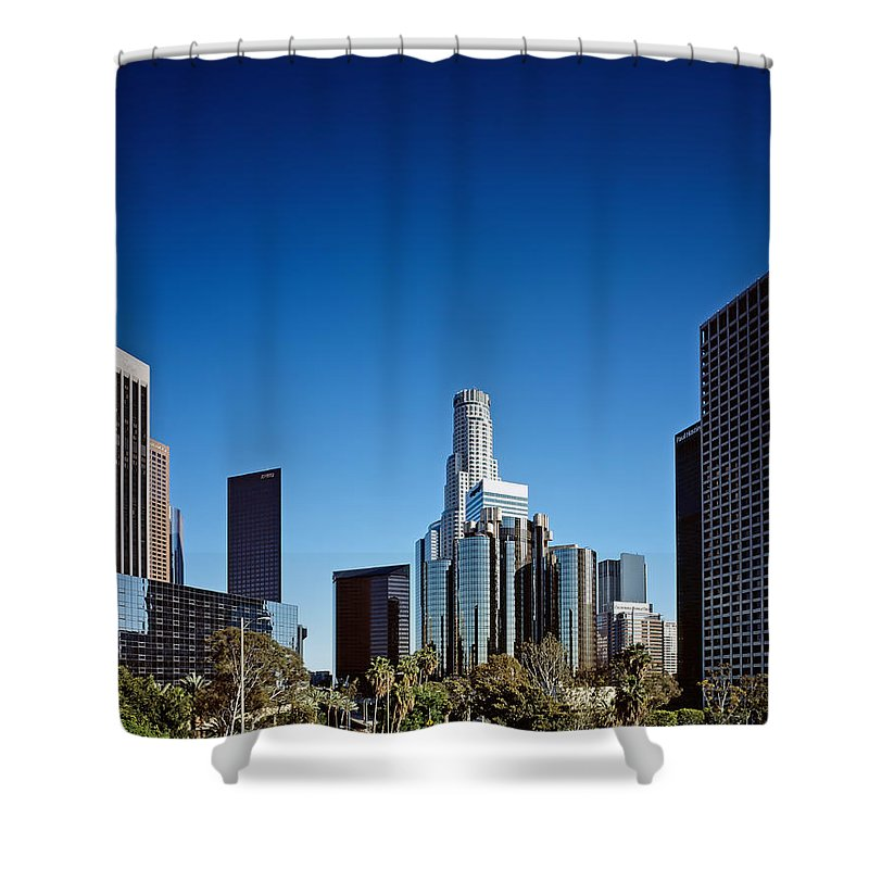 Los Angeles Shower Curtain featuring the photograph Downtown Los Angeles by Mountain Dreams