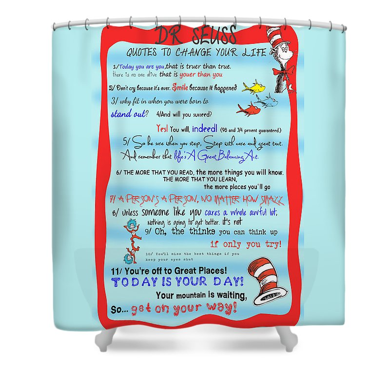 Dr Seuss Shower Curtain Featuring The Digital Art