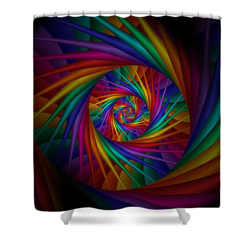 Rainbow Shower Curtain featuring the digital art Dream State 1 by Kiki Art