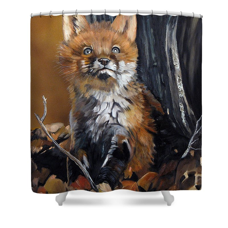 Southwest Art Shower Curtain featuring the painting Dreamer by J W Baker