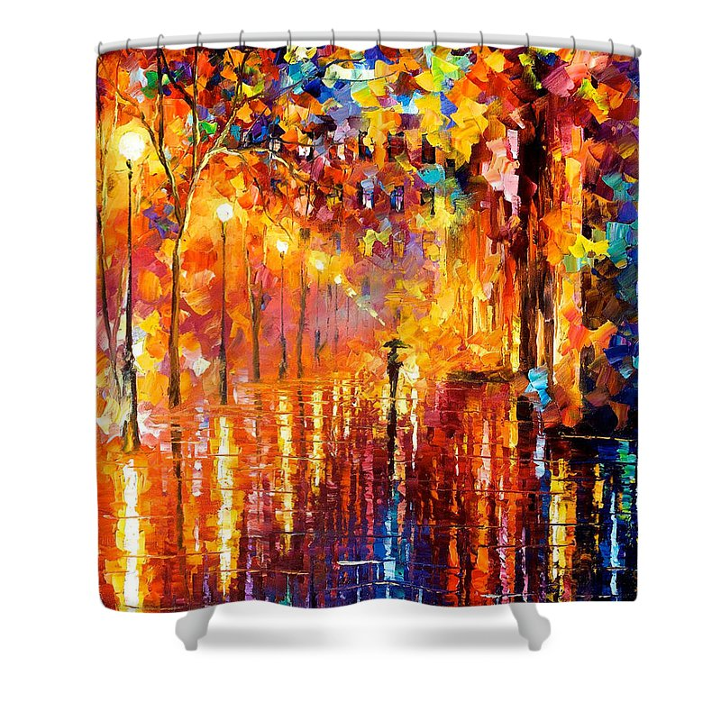 Oil Paintings Shower Curtain Featuring The Painting Dreaming Rain