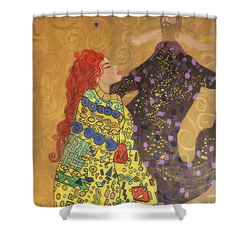 Impressionism Shower Curtain featuring the painting Dreams Of My Lord by Stefan Duncan