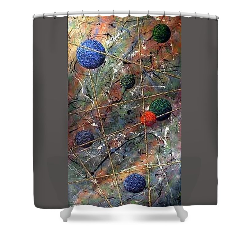 Abstract Shower Curtain featuring the painting Dreamscape by Micah Guenther