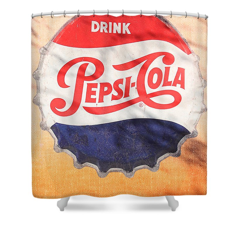 Pepsi Shower Curtain featuring the photograph Drink Pepsi by Donna Kennedy