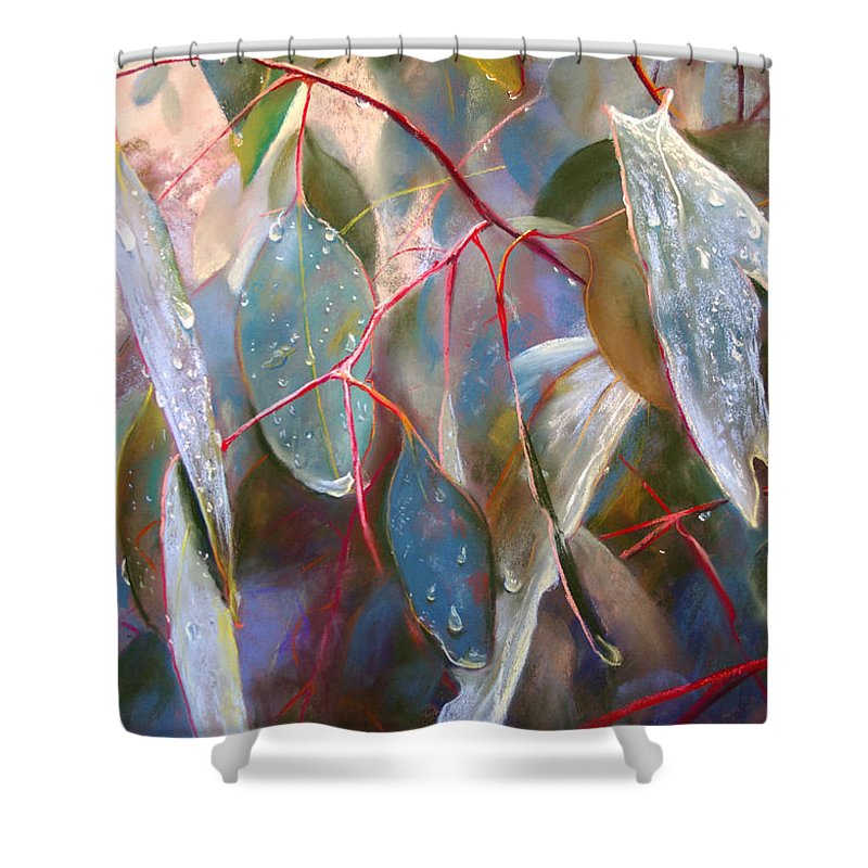 Lynda Robinson Shower Curtain featuring the painting Drought Relief by Lynda Robinson