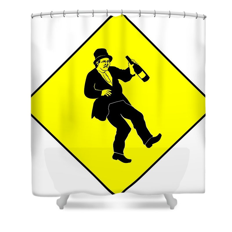 Alcohol Shower Curtain featuring the digital art Drunk by FL collection