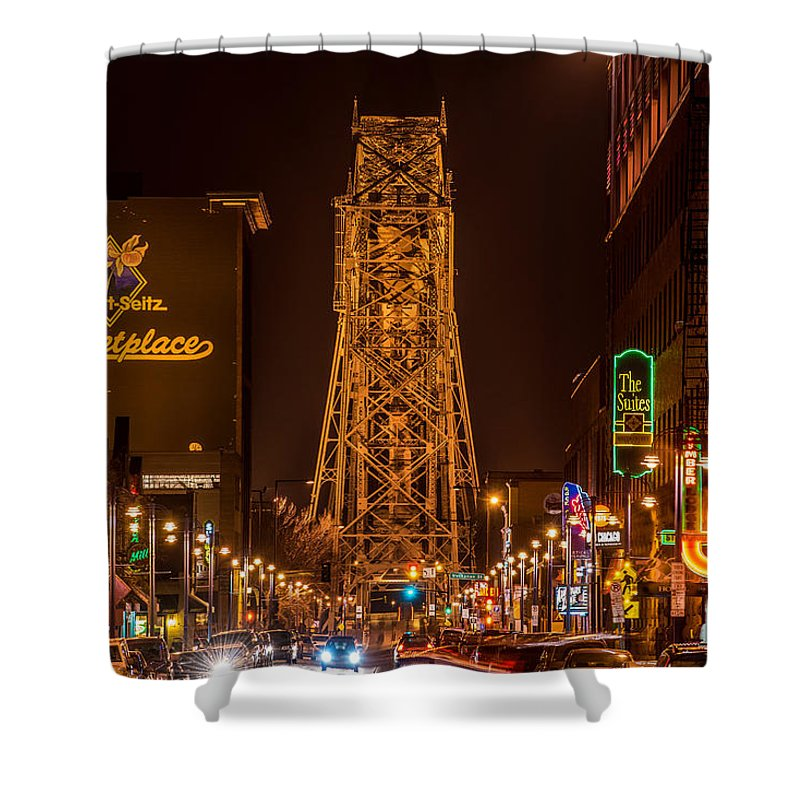 Duluth Lake Avenue Shower Curtain featuring the photograph Duluth Lake Avenue by Paul Freidlund