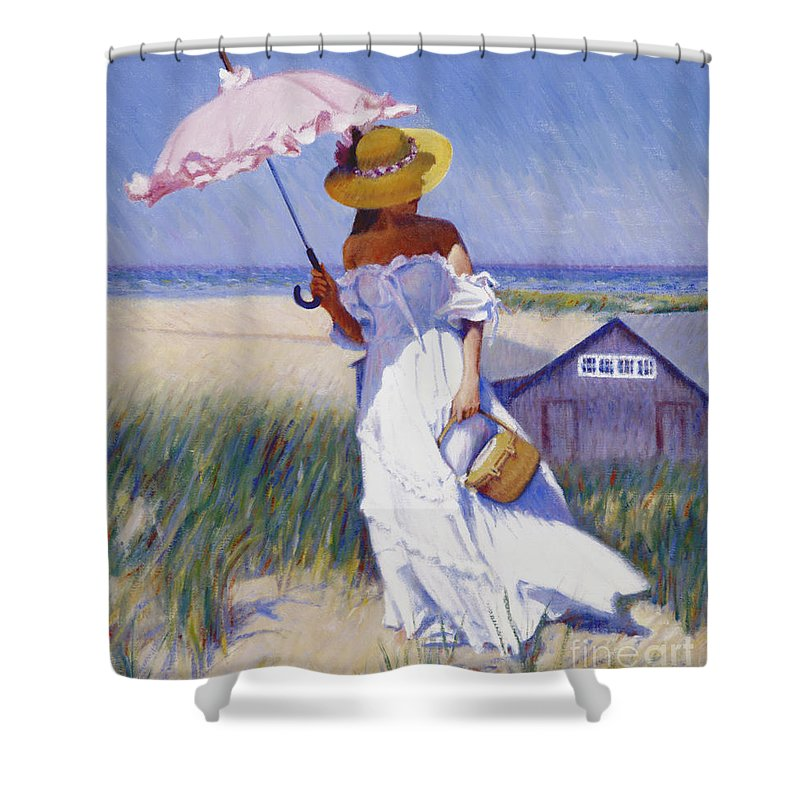 Impressionist Shower Curtain featuring the painting Dune High by Candace Lovely