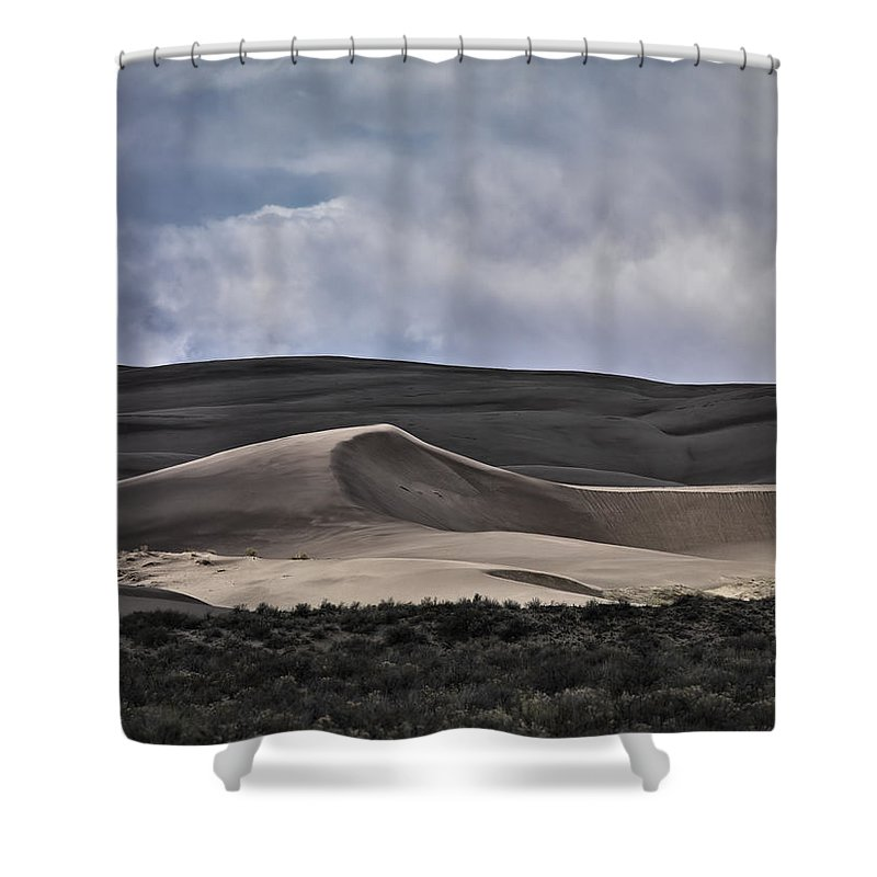 Dunes Shower Curtain featuring the photograph Dune Light by Leland D Howard