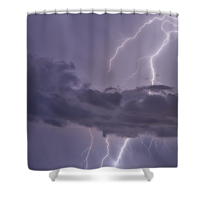 Florida Shower Curtain featuring the photograph Dunedin Causeway Electrified by Stephen Whalen