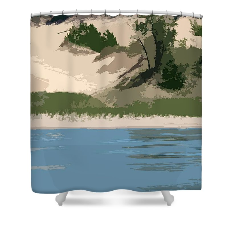 Dunes Shower Curtain featuring the photograph Dunes Of Lake Michigan by Michelle Calkins