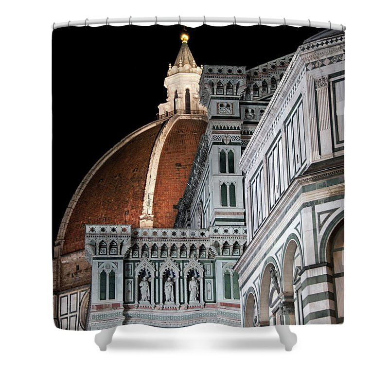 Arch Shower Curtain featuring the photograph Duomo Architecture by Mitch Diamond