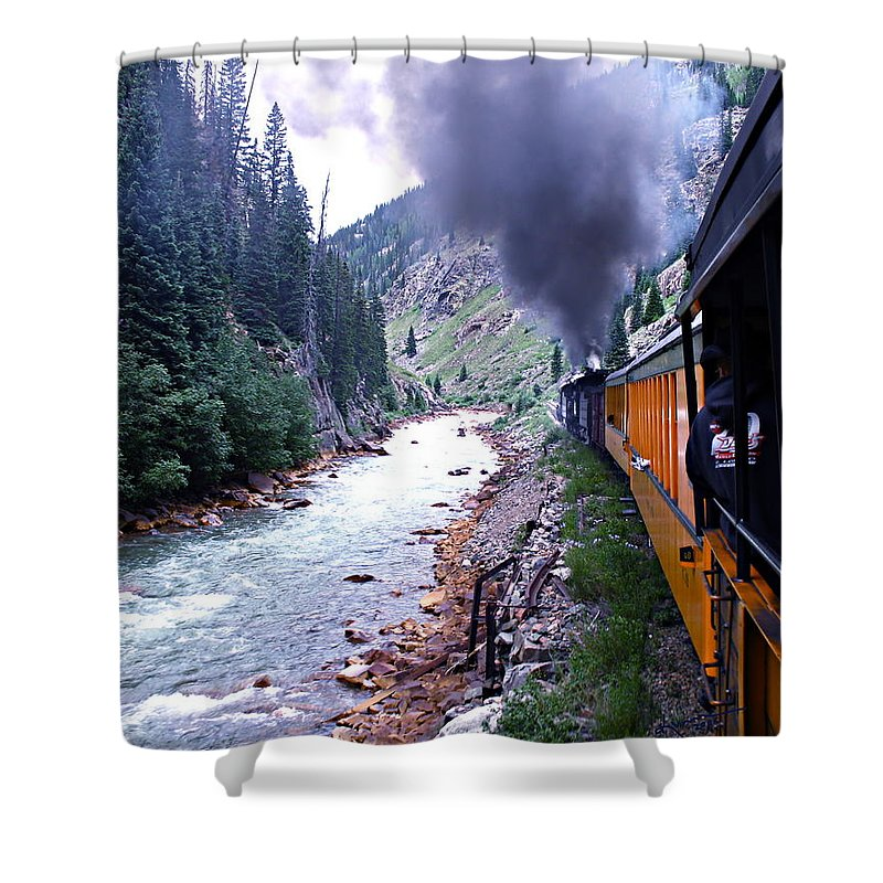 Train Shower Curtain featuring the photograph Durango To Silverton by Kume Bryant