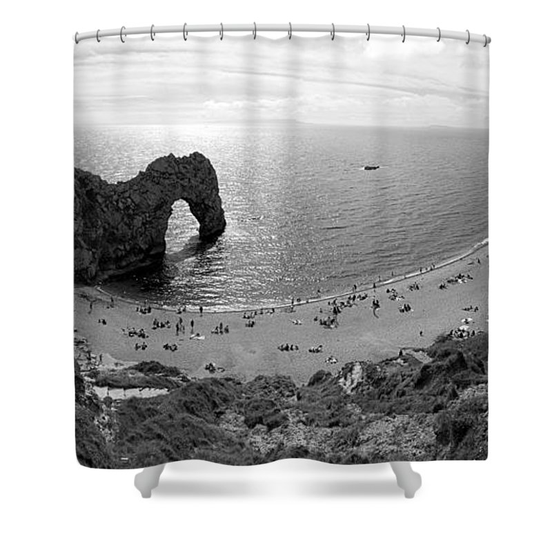 Durdle Door Shower Curtain featuring the photograph Durdle Door by Chevy Fleet